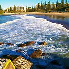 Port Macquarie Lookout over the sea. by Vicki Childs
