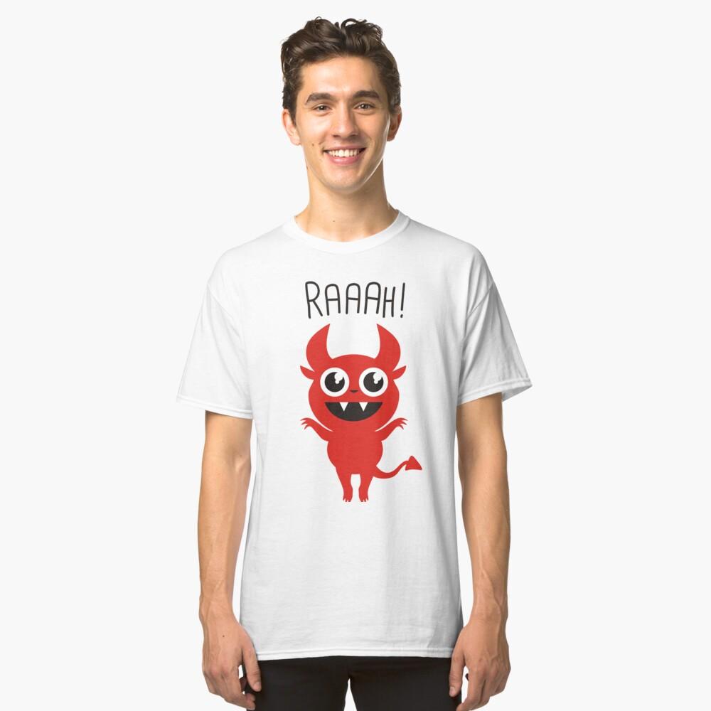 Cute Devil Goes Raaah! Classic T-Shirt Front