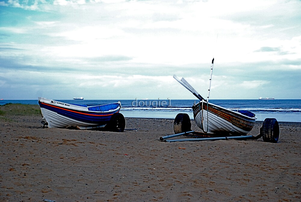 Fishing boats at Marske by dougie1