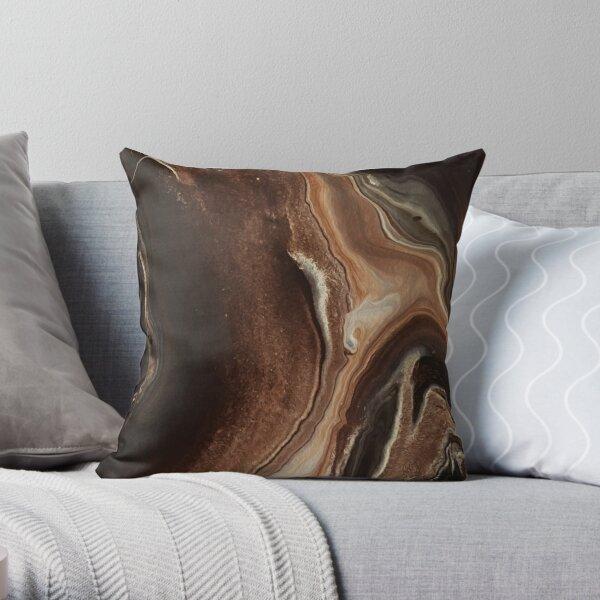 Brown Folly Throw Pillow