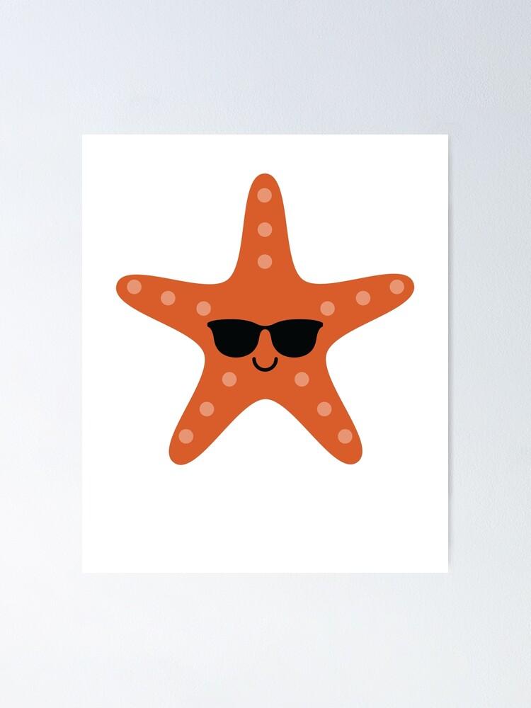 Poster Emoji D Etoile De Mer Par Hippoemo Redbubble