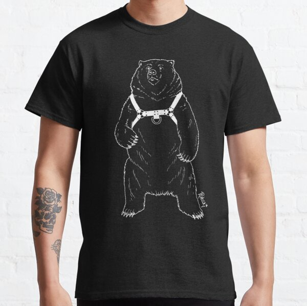 Leather Bear - White lines Classic T-Shirt