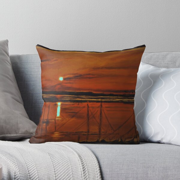 burnt sienna.... by Phil Darby Throw Pillow