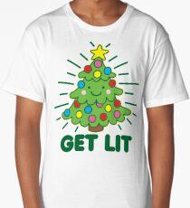 Get Lit Christmas Tree Long T-Shirt