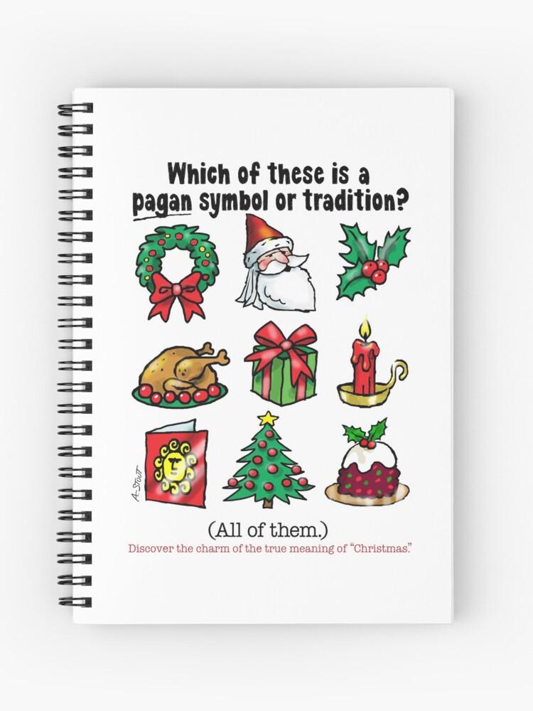 Is Christmas Pagan.Pagan Christmas Short Text Spiral Notebook