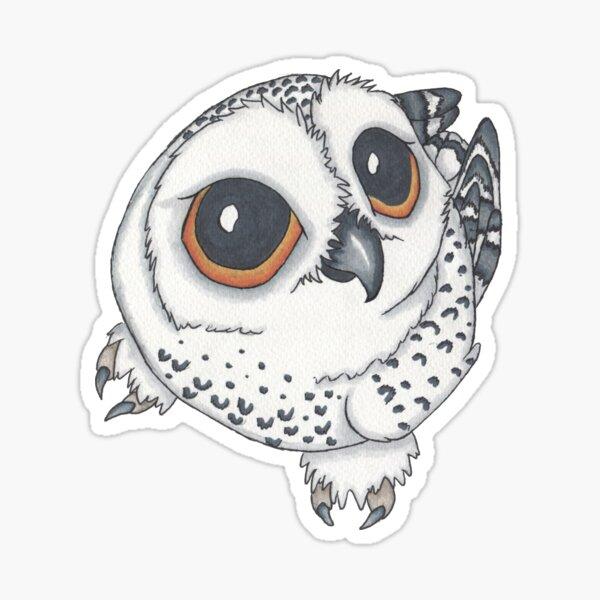 Cute Snowy Owl Sticker