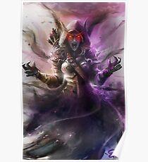 The Banshee Queen Sylvanas, Warcraft Fanart Poster