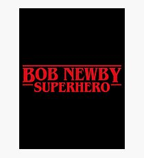 Bob Newby Superhero Stranger Things Inspired Photographic Print