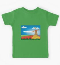 Windmill and tulips Kids Clothes