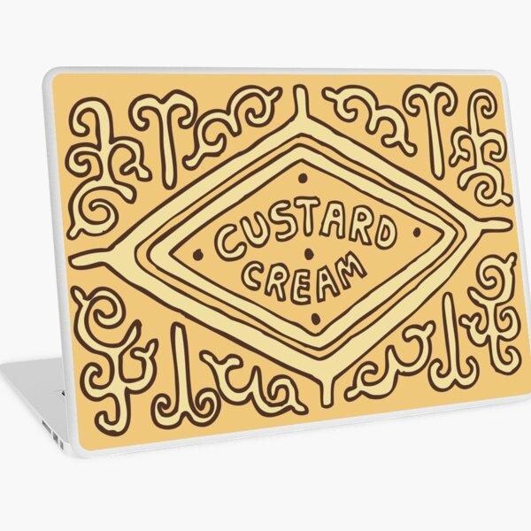 Custard Cream British Biscuit Laptop Skin