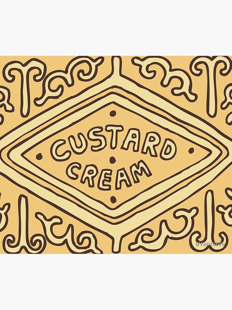 Custard Cream British Biscuit by evannave
