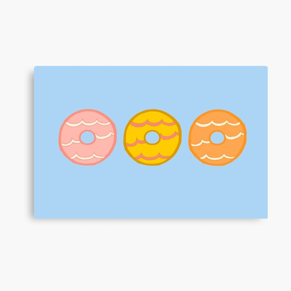 Party Ring Biscuits Canvas Print