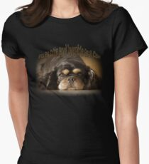 I'm as cute and loveable as a Cav! Womens Fitted T-Shirt