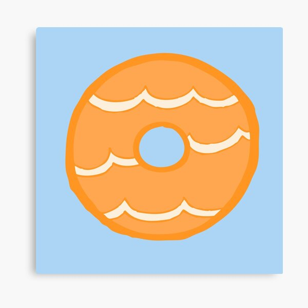 Orange Party Ring Biscuit Canvas Print