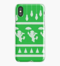 Cricket Christmas Jumper Inspired Silhouette iPhone Case/Skin