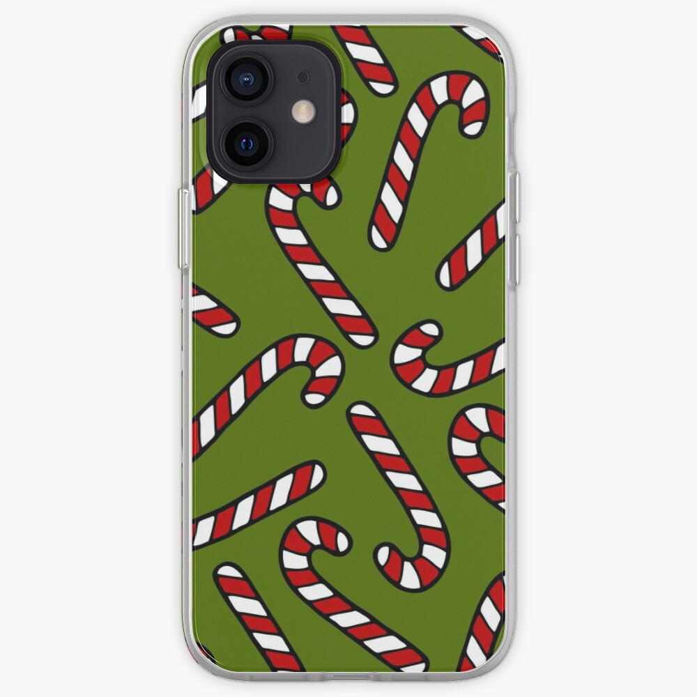 Candy Cane Pattern iPhone Case & Cover