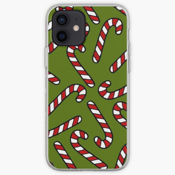 Candy Cane Pattern iPhone Soft Case