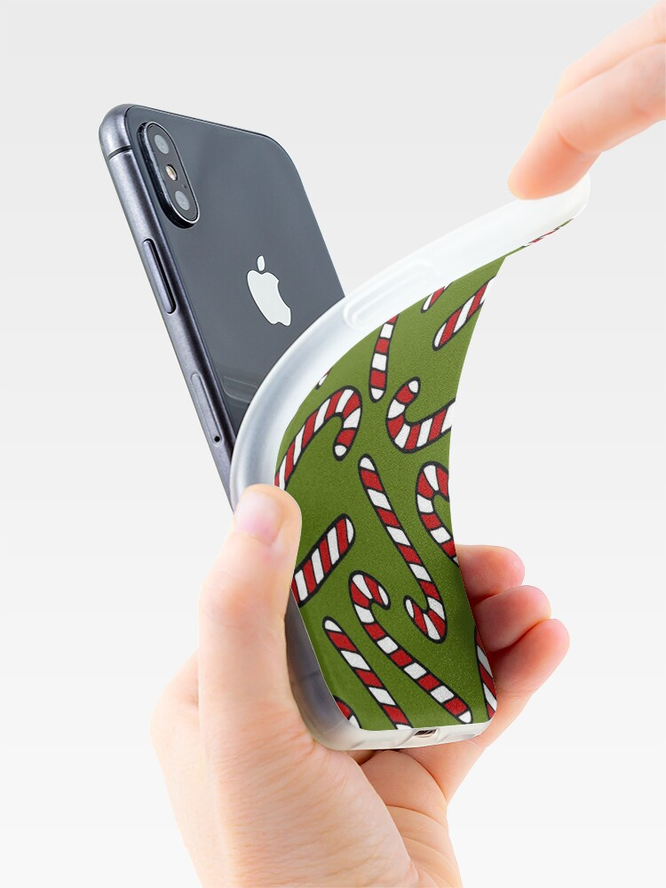 Alternate view of Candy Cane Pattern iPhone Case & Cover