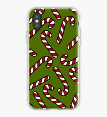 Candy Cane Pattern iPhone Case