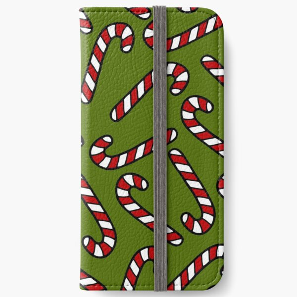 Candy Cane Pattern iPhone Wallet