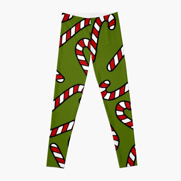 Candy Cane Pattern Leggings