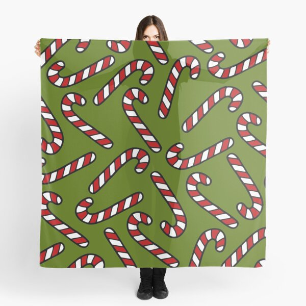 Candy Cane Pattern Scarf