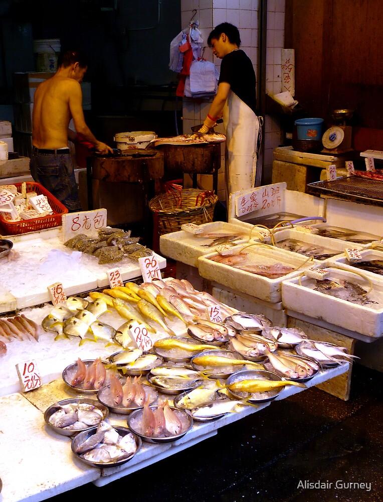Fish market, Mong Kok, Hong Kong by Alisdair Gurney