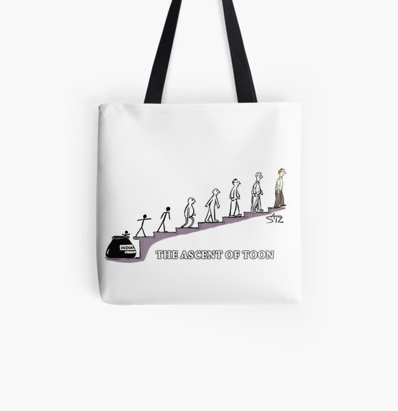 The Ascent of Toon  All Over Print Tote Bag