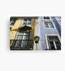 Double facade in Lisbon Canvas Print