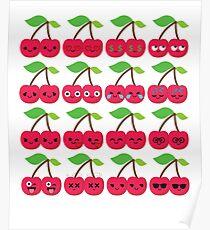 Cherry Emoji   Poster