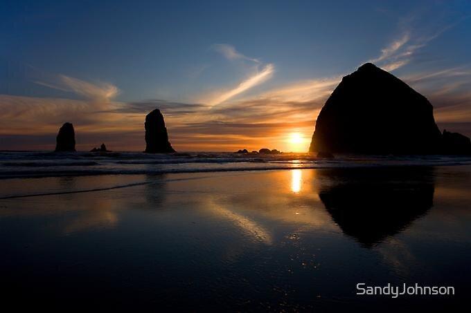 Haystack Rock & The Needles by SandyJohnson