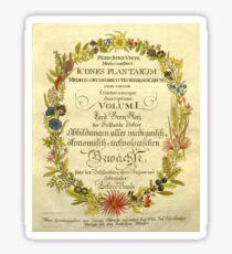 Flower illustration book plate from 1800 Sticker