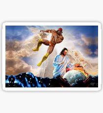 macho man vs jesus Sticker