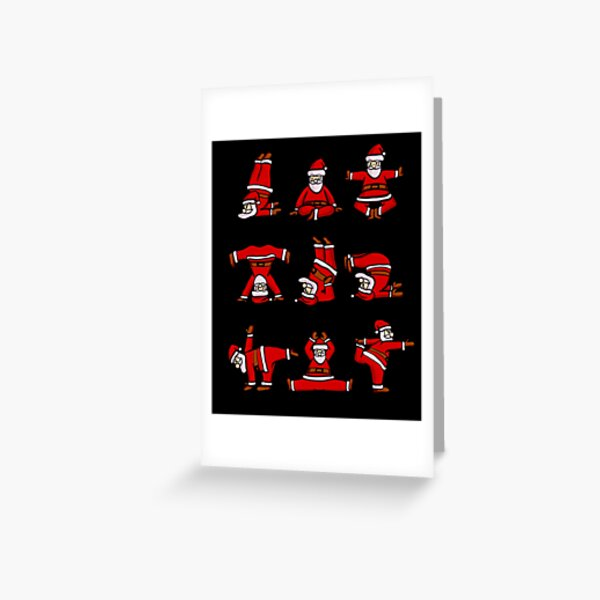Santa Claus Doing Yoga Funny Christmas Sweatshirt Greeting Card
