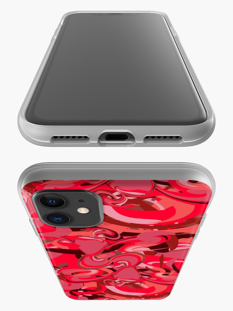 Alternate view of Red Daub - Twin Firebird Elemental iPhone Case & Cover