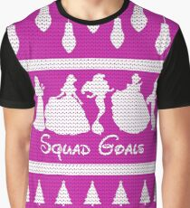 Squad Goals Christmas Jumper Inspired Silhouette Graphic T-Shirt