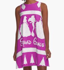 Squad Goals Christmas Jumper Inspired Silhouette A-Line Dress