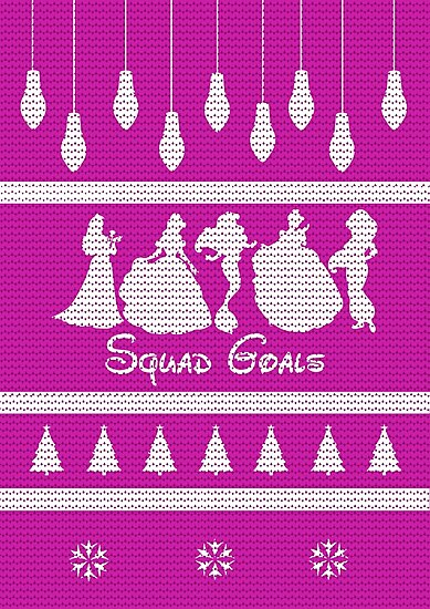Squad Goals Christmas Jumper Inspired Silhouette by InspiredShadows