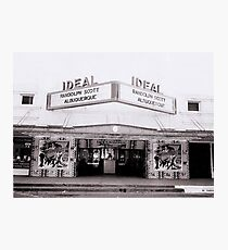 Ideal Theater ~ Now Showing... Photographic Print