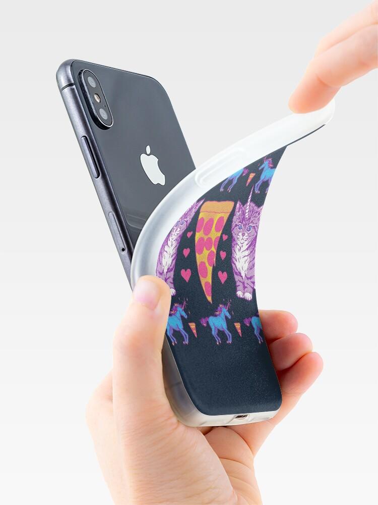 Alternative Ansicht von Kittycorn Pizza-Regenbogen iPhone-Hülle & Cover