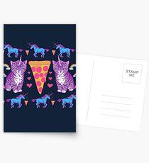 Kittycorn Pizza Rainbows Postcards