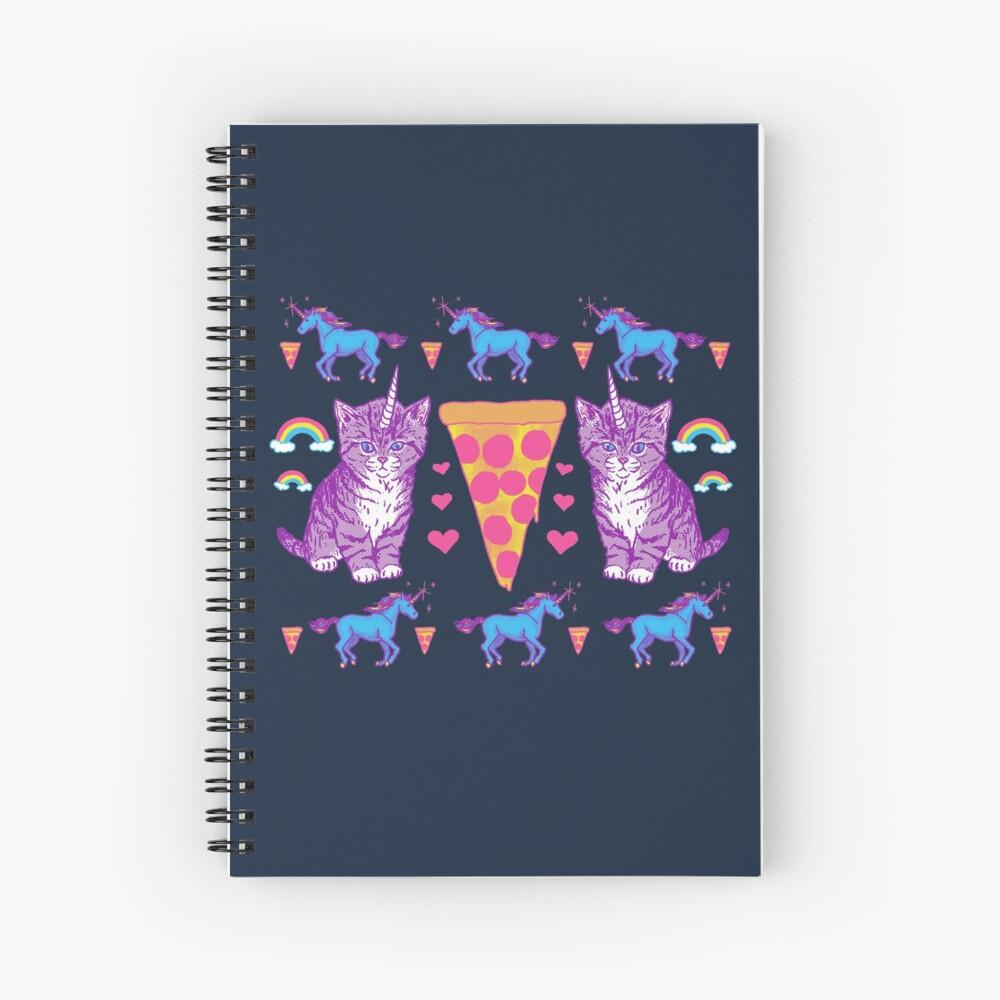 Kittycorn Pizza-Regenbogen Spiralblock