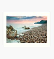 Eype Beach at Dusk Art Print