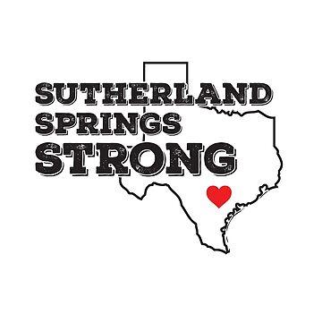 Sutherland Springs Strong by CatCrewsDesign