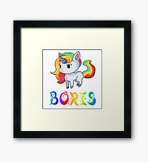 Boris Unicorn Framed Print