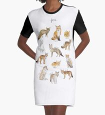 Foxes Graphic T-Shirt Dress