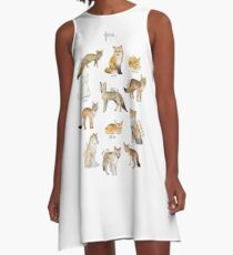Foxes A-Line Dress