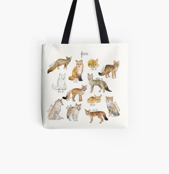 Foxes All Over Print Tote Bag