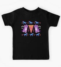 Kittycorn Pizza Rainbows Kids T-Shirt