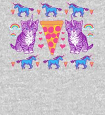 Kittycorn Pizza Rainbows Kids Pullover Hoodie